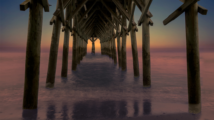 Marin_Bogdan_Under_the_pier_Myrtle_Beach